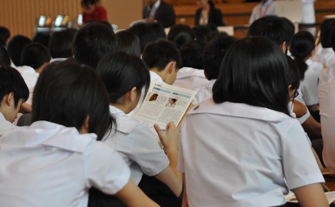 鹿児島玉龍高校の生徒たち